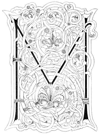 Lessons in the art of illuminating by w j loftie for Illuminated alphabet coloring pages