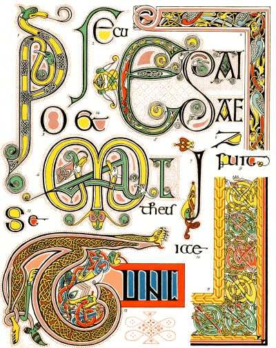 Book of kells uncial