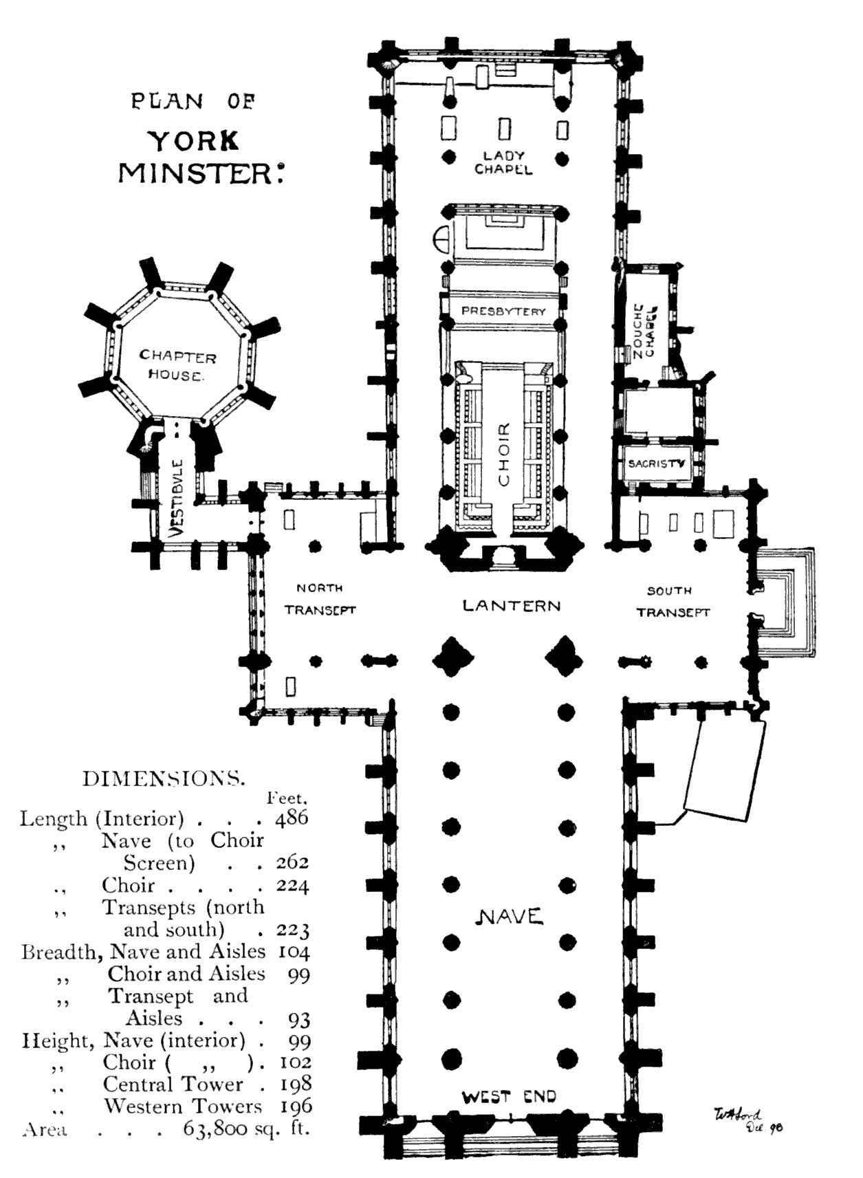 Bell39s cathedrals york by a clutton brock for York minster floor plan