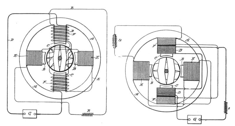 nikola tesla s induction motor diagram