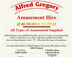 Alfred Gregory Amusement Hire